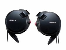 Genuine Sony Clip-on Stereo Headphones Wind-up Cord MDR-Q68LW B Black