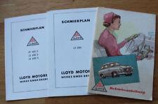 Alte LLOYD LP 400 S / LS 400 S / LT 500 Bedienungsanleitung + Schmierplan