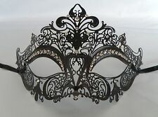 Black Filigree Metal Venetian Masquerade Party Mask No.3 * NEW *