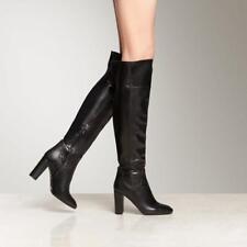 WOMENS L.K. BENNETT BOOTS Kaelynn Over The Knee Black Nappa Leather OTK 10 $875