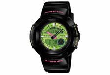 Casio G-shock AW-582SC-1ADR Hora Mundial Crazy Color Negro Verde Y Rosa Reloj