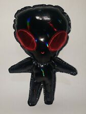 Red And Black Holographic Alien Plush Chibi Kawaii Cute