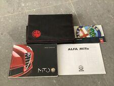 Alfa Romeo Mito 2010- 2019 Owners Manual Handbook & Wallet