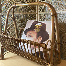 Bamboo Wicker Rattan Newspaper Holder Magazine Album Holder Rack Mcm Vintage