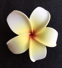 Hawaiian Plumeria Foam Flower Hair CLIP White Yellow Red Wedding Bridal Luau NEW