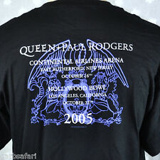 Queen Paul Rodgers 2005 Concert T-shirt Large Mens Crest Hollywood Bowl Jersey