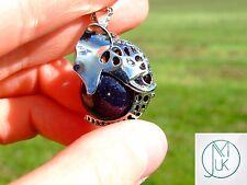 Arenisca azul Colgante De Piedras Preciosas Collar de cabeza de elefante Curación Chakra