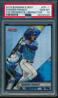 PSA 10 WANDER FRANCO 2019 Bowman's Best Top Prospects REFRACTOR RC GEM MINT