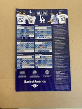 2015 DODGERS PROMOTIONAL SCHEDULE MAGNETIC