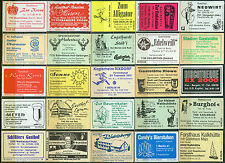 25 alte Gasthaus-Streichholzetiketten aus Deutschland #568