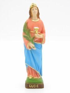 Statua Santa Lucia in resina cm. 19