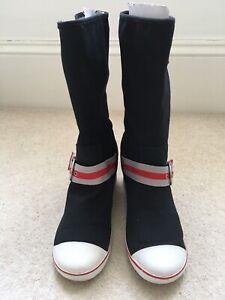Sugar Canvas Boots Black 7 40