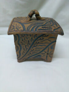 Signed Stoneware Studio Art Pottery Container Box