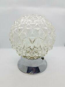 Vintage Mid-Century Modern Cut Crystal Swag Wall Light Lamp Fixture