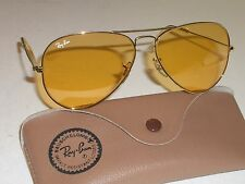 VINTAGE BAUSCH & LOMB RAY-BAN ARISTA ALL-WEATHER AMBERMATIC AVIATOR SUNGLASSES