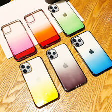 Plating Gradient Color Case For iPhone 11 Pro XR XS Max 8 Plus Soft Rubber Cover