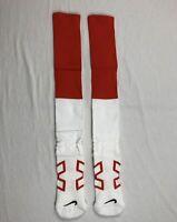 NEW Nike Cleveland Browns -1 Pair Men's Orange/White Socks (Multiple Sizes)