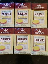 Dominion Sugar Free Sweets Rhubarb and Custard Flavour, 44g Sealed. X6 packs NEW