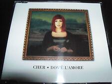 Cher Dov'e L'amore Rare German CD Single – Like New