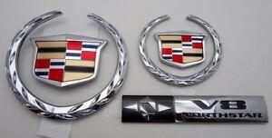 Cadillac 2000 2001 DTS DHS DEVILLE NEW STYLE UPGRADE EMBLEM PKG.!!