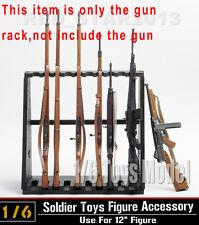 "DRAGON DML 1/6 Toys Model Weapon Wood Storage (10pc)Long Gun Rack Fit 12"" Figure"