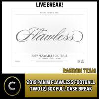 2019 PANINI FLAWLESS FOOTBALL 2 BOX (FULL CASE) BREAK #F419 - RANDOM TEAMS