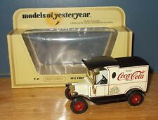 Matchbox Yesteryear Y12 Model T Ford Van Coca Cola 75th Anniversary