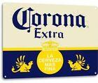 Corona Extra Beer Metal Sign Man Cave Party Decor La Cerveza Mas Fina Bar Pub