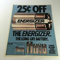 VTG Retro 1985 Eveready The Energizer Long Life Battery Print Ad Coupon