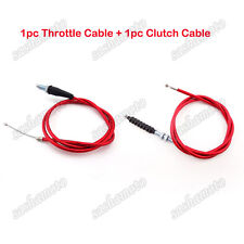 Twist Throttle Clutch Cable Red Chinese 50cc 90 110 125 150 160 cc Dirt Pit Bike