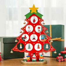 More details for tabletop diy wooden christmas tree ornaments new xmas decoration kids gifts