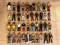 Mattel WWE Lot 40 Figures Used Legend Flashback Elite CM Punk HBK Mankind Cena