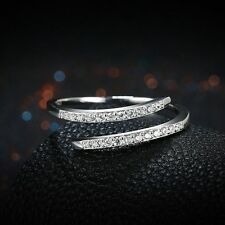 Hot Exquisite  Engagement Jewelry Cubic Zirconia S925 Silver Wedding Ring.