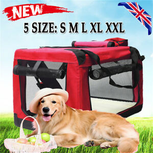 S M L XL XXL Fabric Soft Pet Crate Kennel Cage Carrier House Dog Cat Travel Bag