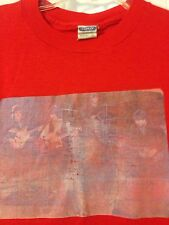 Vintage 1970's/1980's Red Beatles T-Shirt By Ched. 50-50. Faded. Soft. Made Usa