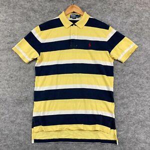 Ralph Lauren Mens Polo Shirt Size Medium Multicoloured Slim Fit Collared 176.11