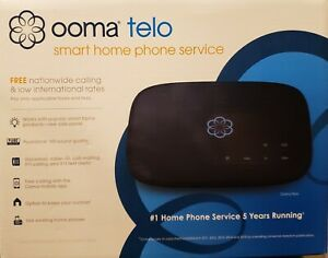 OOMA Telo Smart Free Home Phone Service, Brand New/Factory Sealed, Black
