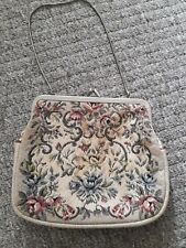Vintage Tapestry Bag G.H.L Princess Style made in Germany Needlepoint Purse