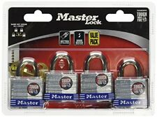 Master Lock Padlock Laminated Steel 1 9 16 in. Wide 3008D Pack of 4 Keyed Alike
