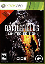 100% MINT XBOX 360 BATTLEFIELD 3 LIMITED EDITION GAME CASE MANUAL p-CODE 2 DISKS