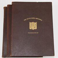 1926 The Enclopaedia Britannica 13th Edition Lot 3-Volume Set Home Decor Leather
