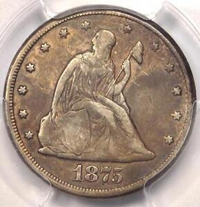 1875-CC Twenty Cent Piece 20C - PCGS VF Detail - Rare Carson City Coin!
