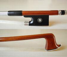 Professional Pernambuco violin bow 4/4, abalone inlay , Silver mounted