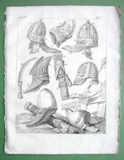 ARMS Helmets Daggers of Parthians - 1774 Original Copperplate Print