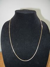"New Milor Italian 24"" Box Chain Necklace 14k Yellow Gold 3.8g"
