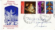 First day cover, New Zealand, Sc #481-3, Christmas, s/designer Enid Hunter, 1971