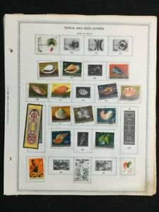 TCStamps FREE SHIP 24x Pages BEAUTIFUL OLD Papua New Guinea  Postage Stamps #755