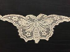 Unique Antique Vintage Butterfly Beige Lace Trim