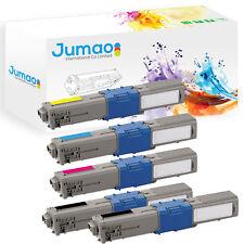 5 Cartouches de Toner Jumao Compatible Pour Oki c301 c321 mc332 mc342 Kit DN