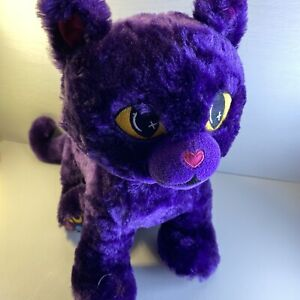 Build-A-Bear Workshop PURPLE MOON KITTY CAT Halloween Plush without Mask Yellow